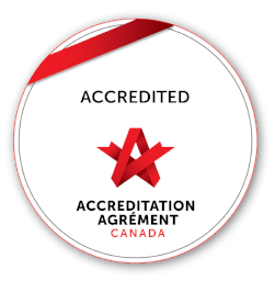 Accredited with exemplary standing with Accreditation Canada